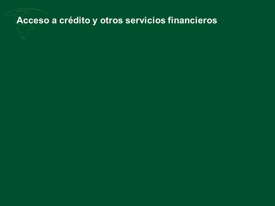 Acceso a crédito y otros servicios financieros