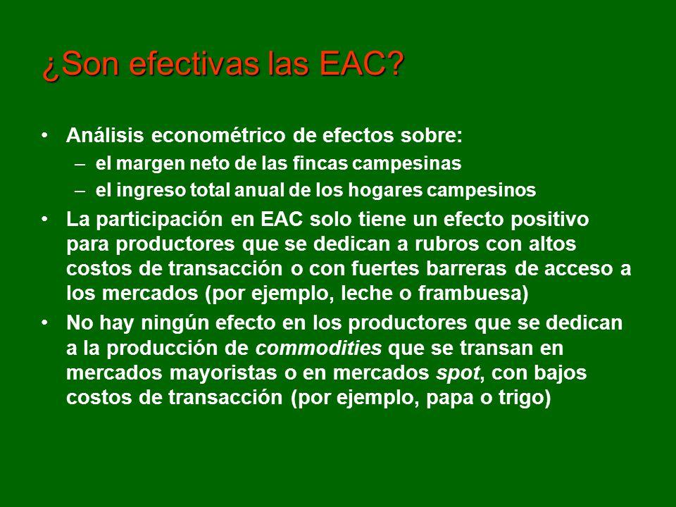 Debemos revisar el supuesto de que participar en organizaciones económicas siempre es conveniente para los pequeños productores.