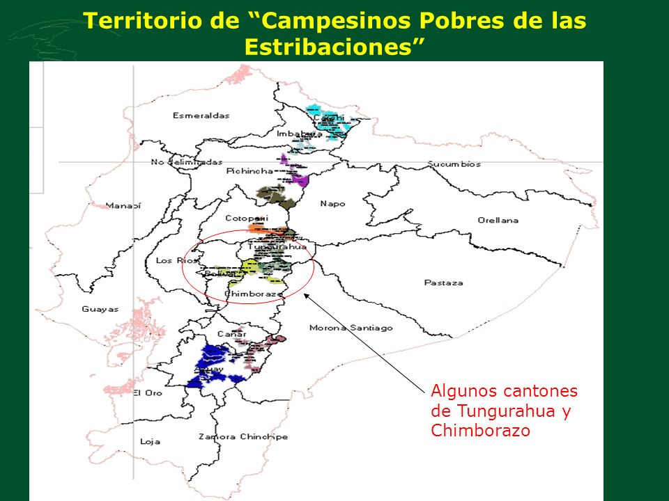 Territorio de Campesinos Pobres de las Estribaciones Algunos cantones de Tungurahua y Chimborazo