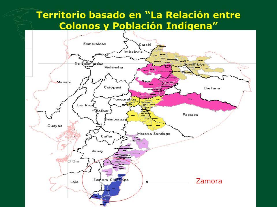 Territorio basado en La Relación entre Colonos y Población Indígena Zamora