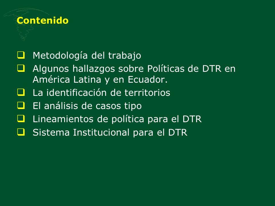 Los Consejos para el Desarrollo Territorial Rural Consejos para el Desarrollo Territorial Conformado por diferentes ámbitos del Estado y representantes de la sociedad incluyendo sector privado Consejo Económico y Social -Definir una visión compartida, una estrategia y un plan de desarrollo territorial.