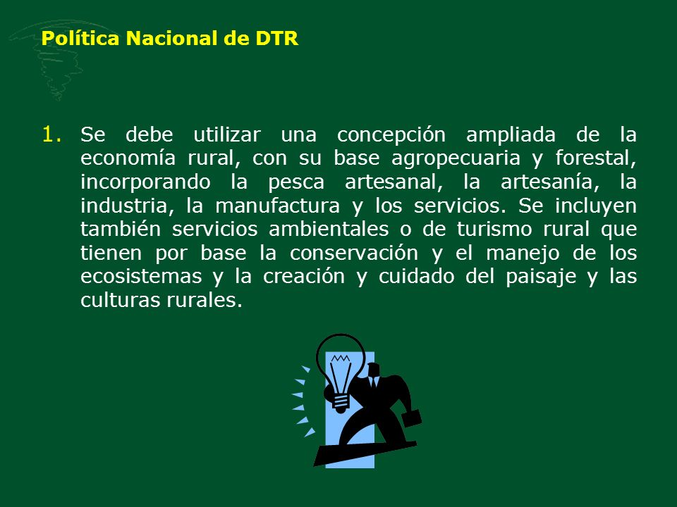 Política Nacional de DTR 1.