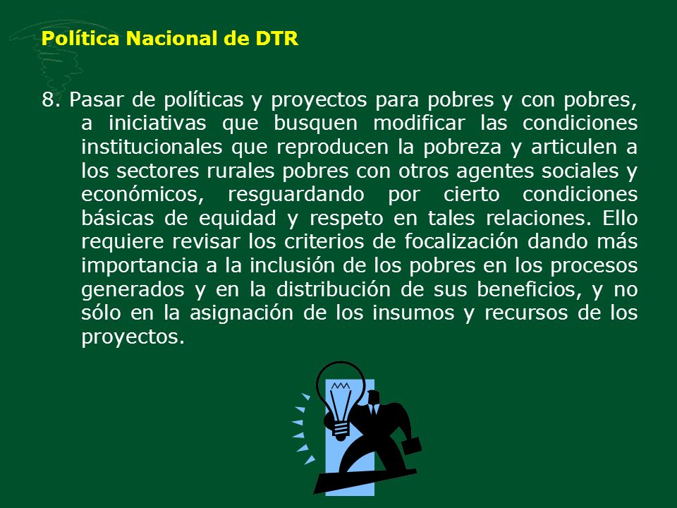 Política Nacional de DTR 8.