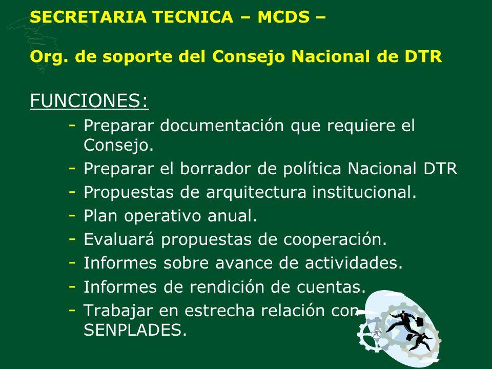SECRETARIA TECNICA – MCDS – Org.
