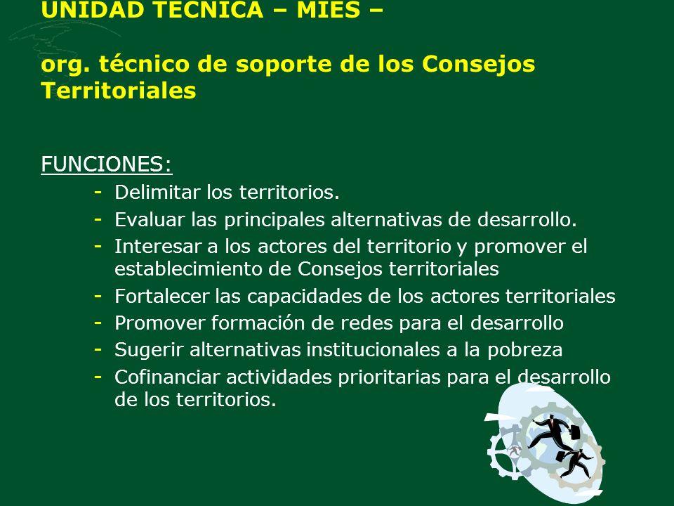 UNIDAD TECNICA – MIES – org.
