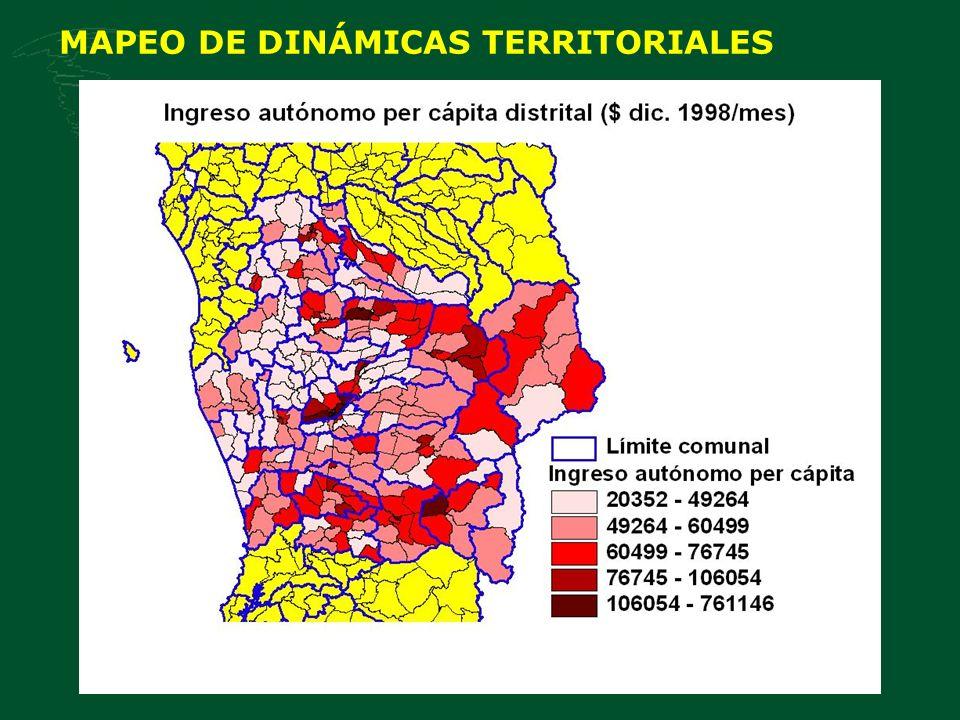 MAPEO DE DINÁMICAS TERRITORIALES