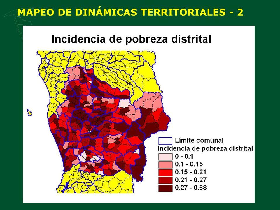 MAPEO DE DINÁMICAS TERRITORIALES - 2