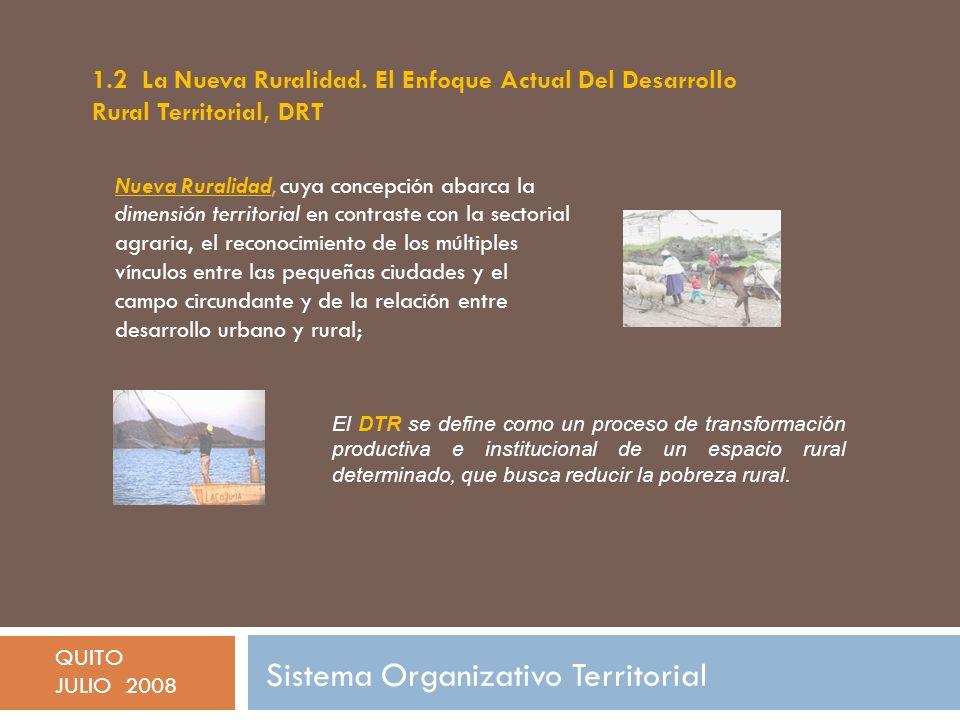Sistema Organizativo Territorial QUITO JULIO 2008 10.