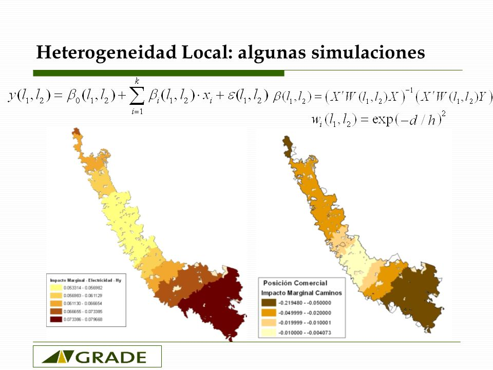 Heterogeneidad Local: algunas simulaciones
