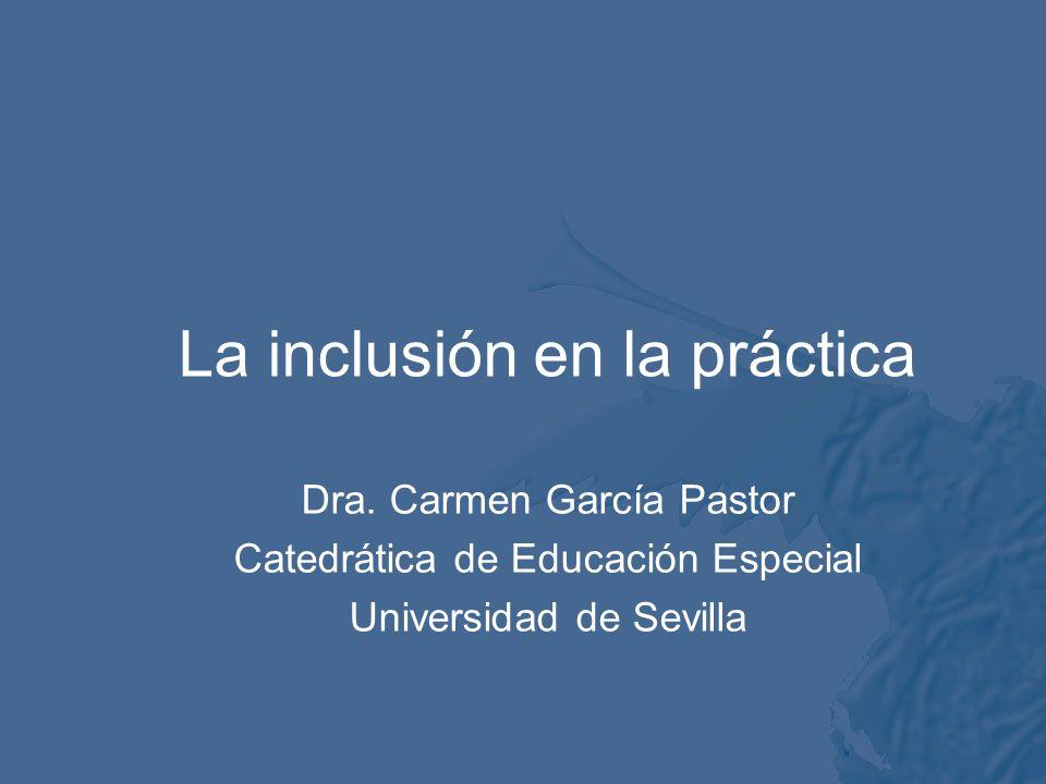 La inclusión en la práctica Dra.