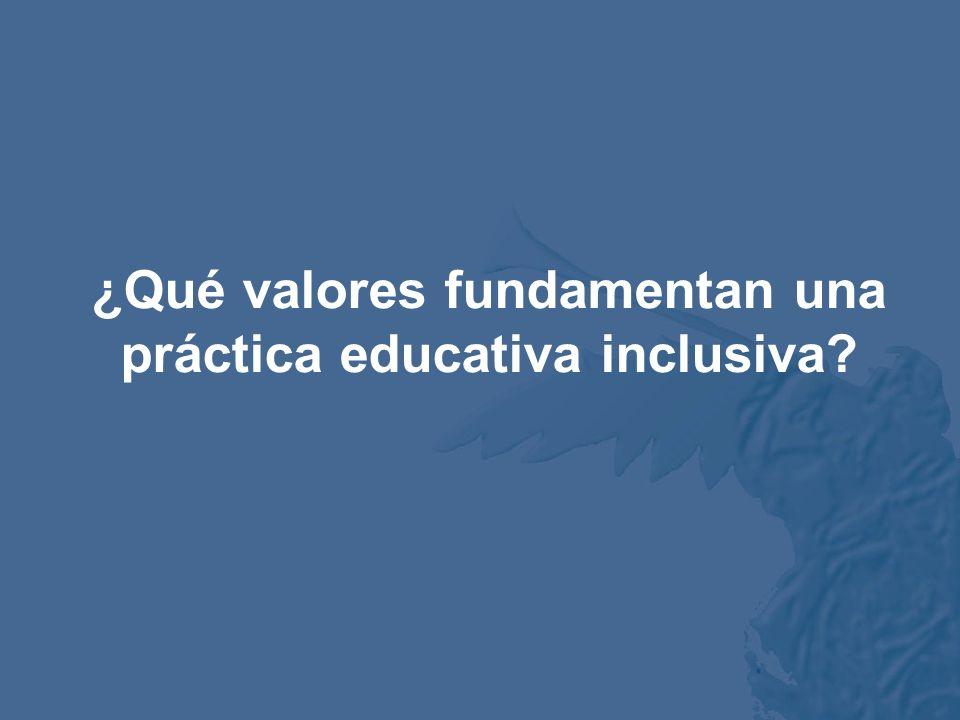 Implicaciones del discurso del potencial de aprendizaje Prácticas educativas inclusivas Preguntas Bases teóricas necesarias Axiología¿Qué valores fund