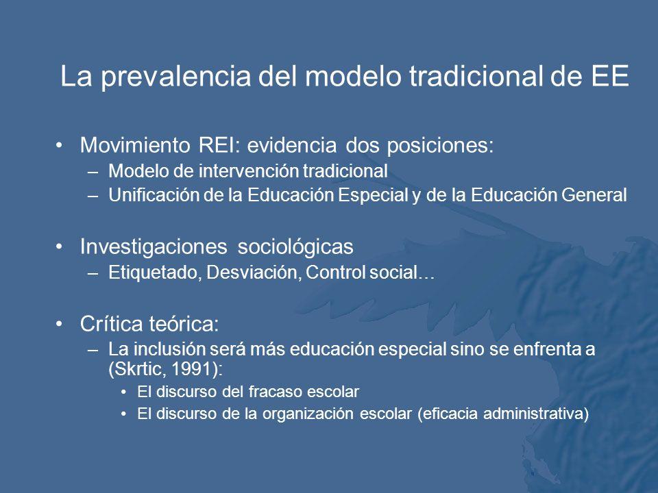 La retórica de la necesidad especial está basada de hecho sobre los supuestos psico- médicos individualistas tradicionales y sobre la naturaleza y los orígenes de la discapacidad y la diferencia en la que todo los problemas se explican por los déficits individuales.
