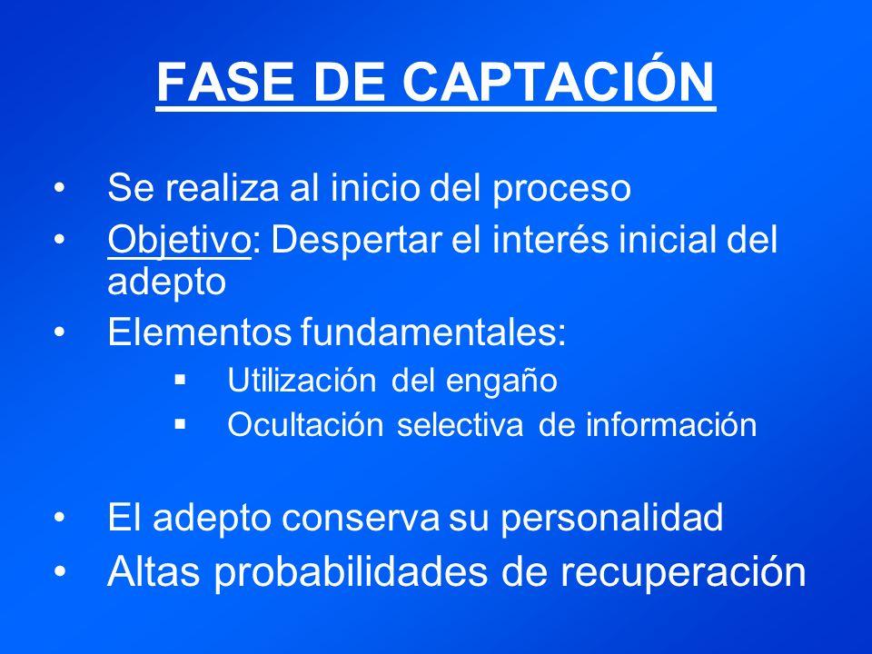 Identificación del adepto Mas probabilidad en viajeros y personas alejadas de su entorno familiar.