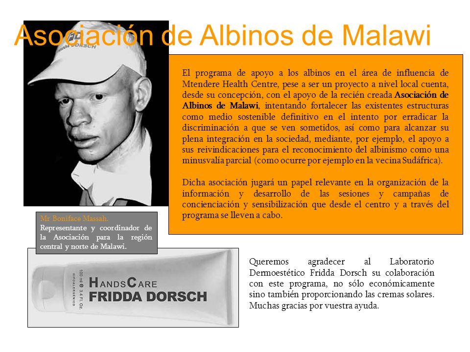 El programa de apoyo a los albinos en el área de influencia de Mtendere Health Centre, pese a ser un proyecto a nivel local cuenta, desde su concepció
