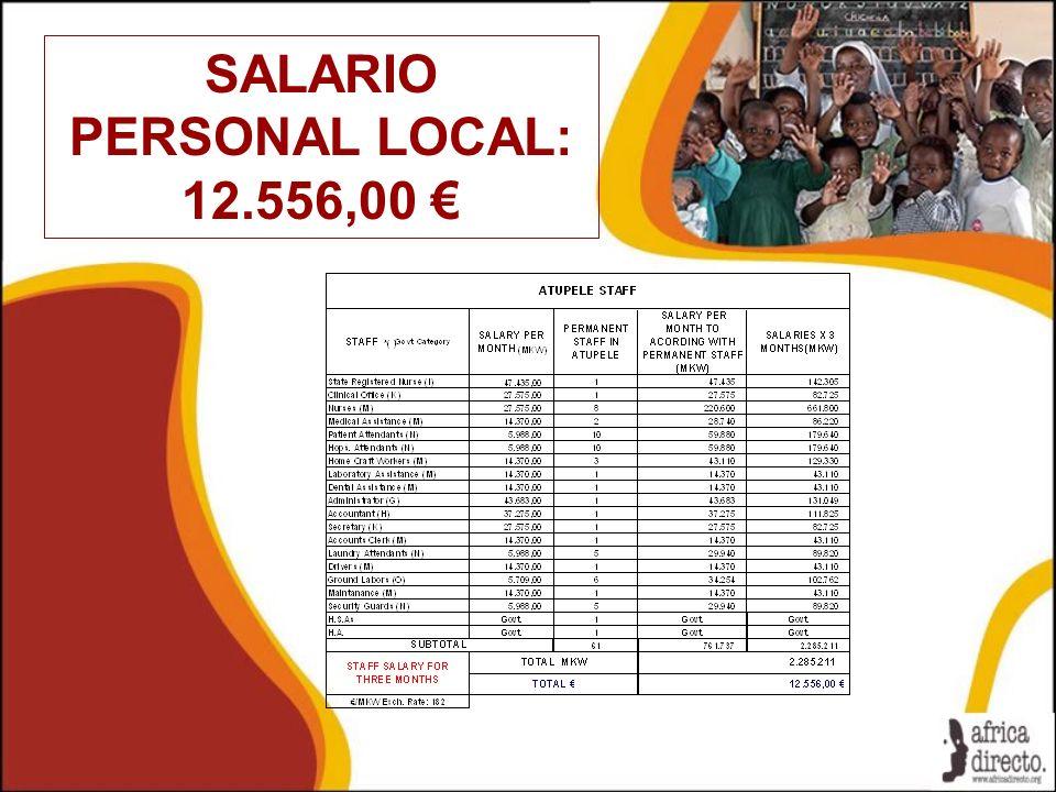 SALARIO PERSONAL LOCAL: 12.556,00