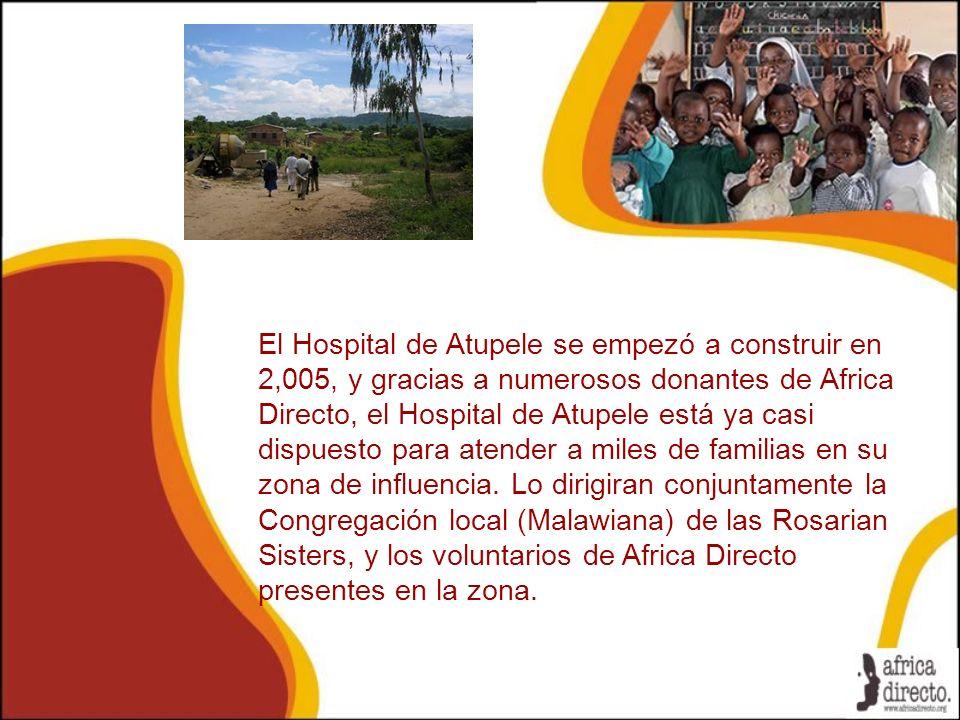 El Hospital de Atupele se empezó a construir en 2,005, y gracias a numerosos donantes de Africa Directo, el Hospital de Atupele está ya casi dispuesto