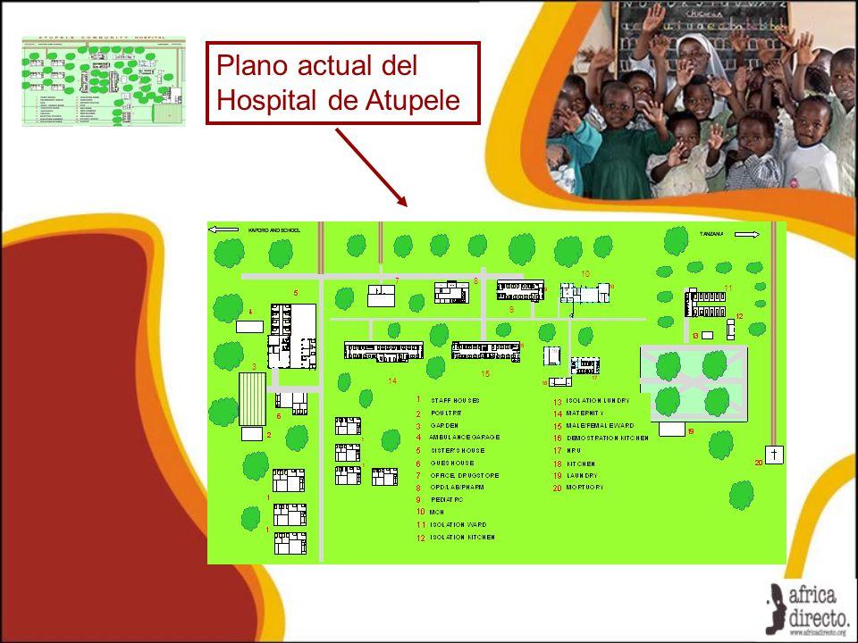 Plano actual del Hospital de Atupele 3 78 11 9 10 14 15