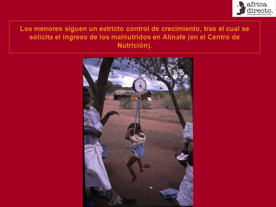 Los menores siguen un estricto control de crecimiento, tras el cual se solicita el ingreso de los malnutridos en Alinafe (en el Centro de Nutrición).