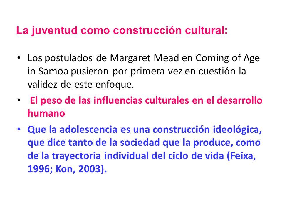 Los postulados de Margaret Mead en Coming of Age in Samoa pusieron por primera vez en cuestión la validez de este enfoque. El peso de las influencias