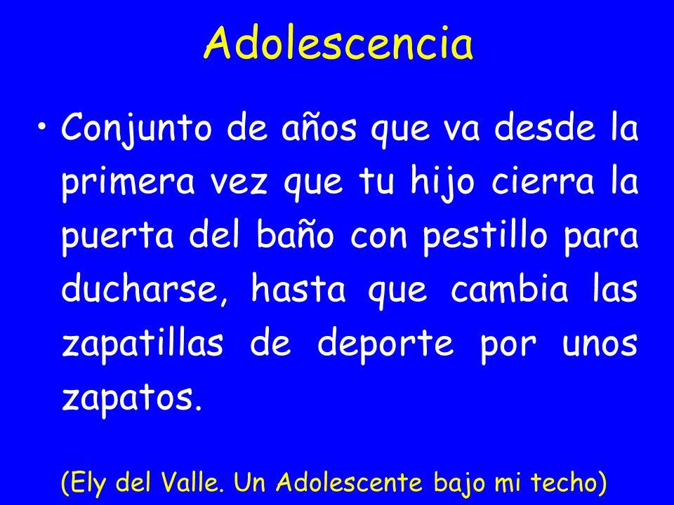 Adolescencia: la solución 1-Cambiar el código genético 2-Volver al sistema social antiguo