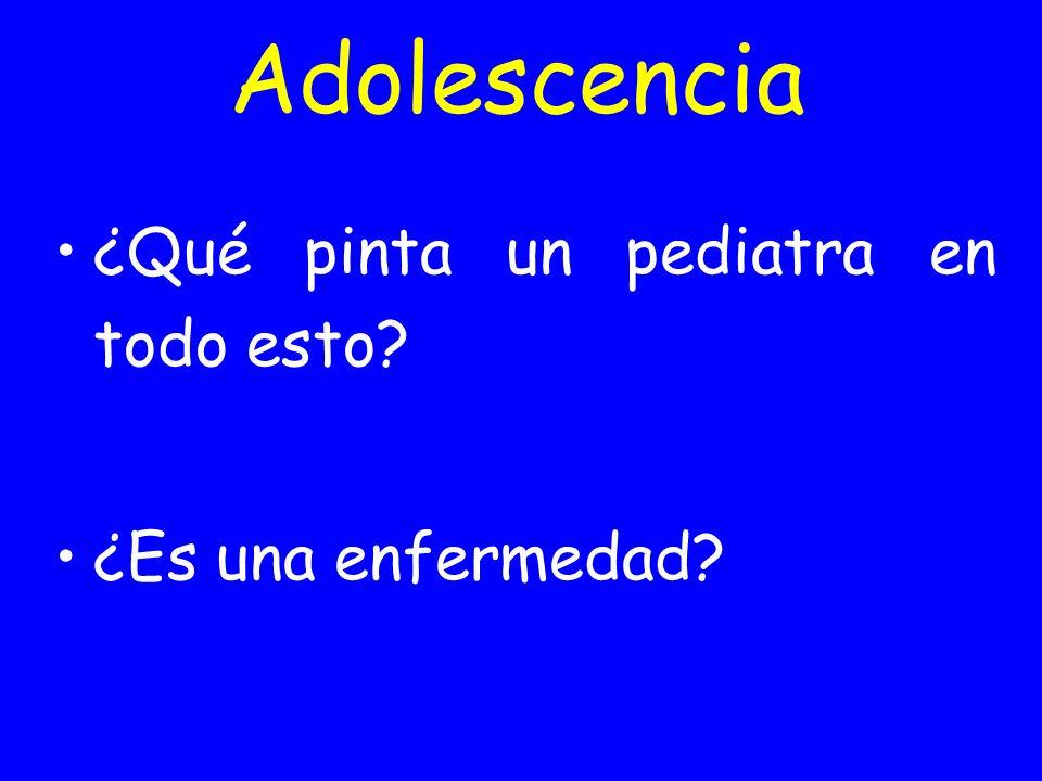 Adolescencia ¿Qué pinta un pediatra en todo esto? ¿Es una enfermedad?