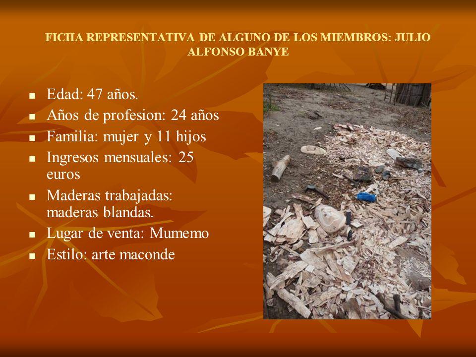 FICHA REPRESENTATIVA DE ALGUNO DE LOS MIEMBROS: ANTONIO ARMONIE BANIZE Edad: 32 años.
