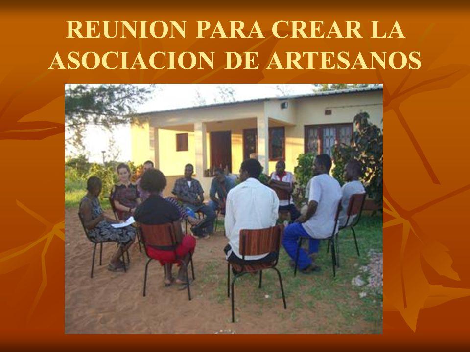REUNION PARA CREAR LA ASOCIACION DE ARTESANOS