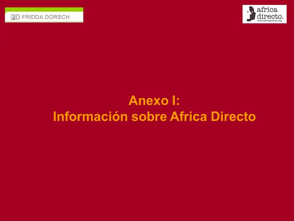 - Anexo I: Información sobre Africa Directo