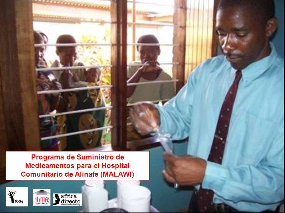 Programa de Suministro de Medicamentos para el Hospital Comunitario de Alinafe (MALAWI)