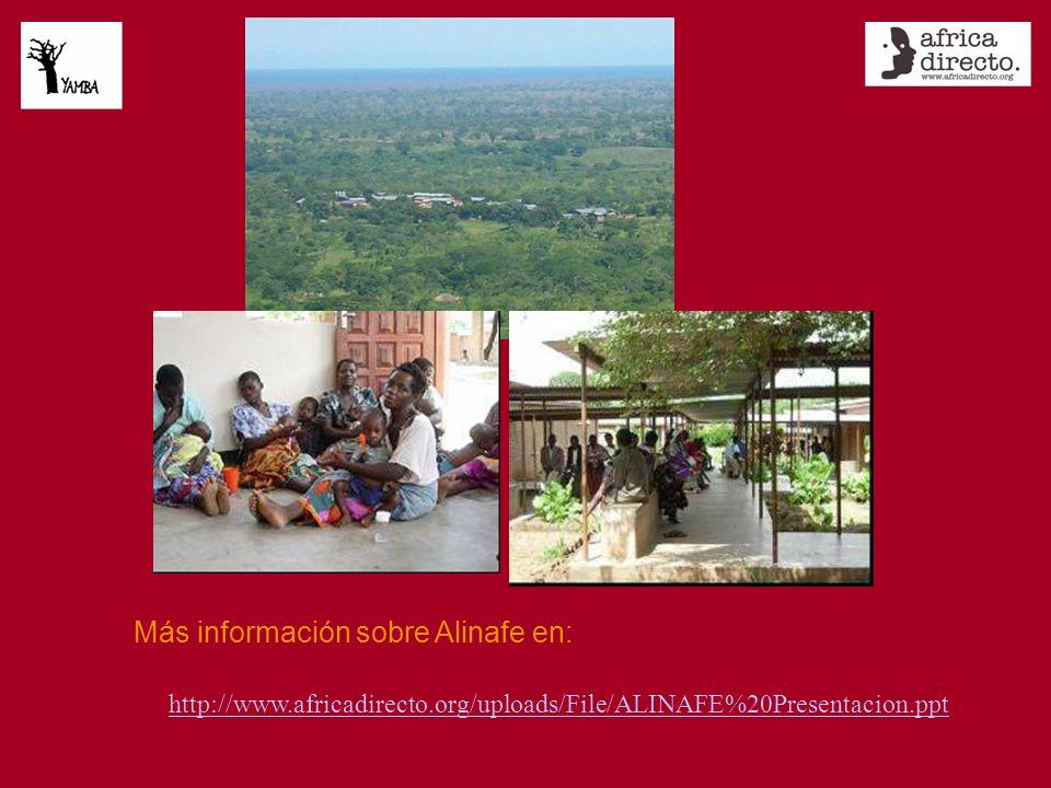 Más información sobre Alinafe en: http://www.africadirecto.org/uploads/File/ALINAFE%20Presentacion.ppt