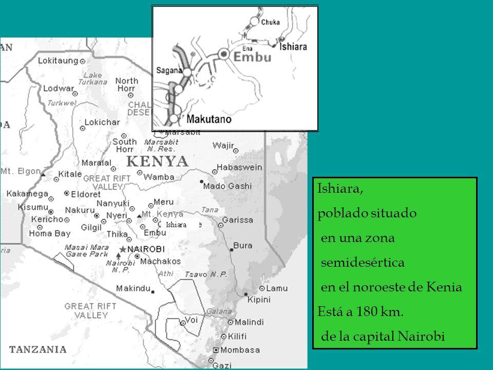 Ishiara, poblado situado en una zona semidesértica en el noroeste de Kenia Está a 180 km.