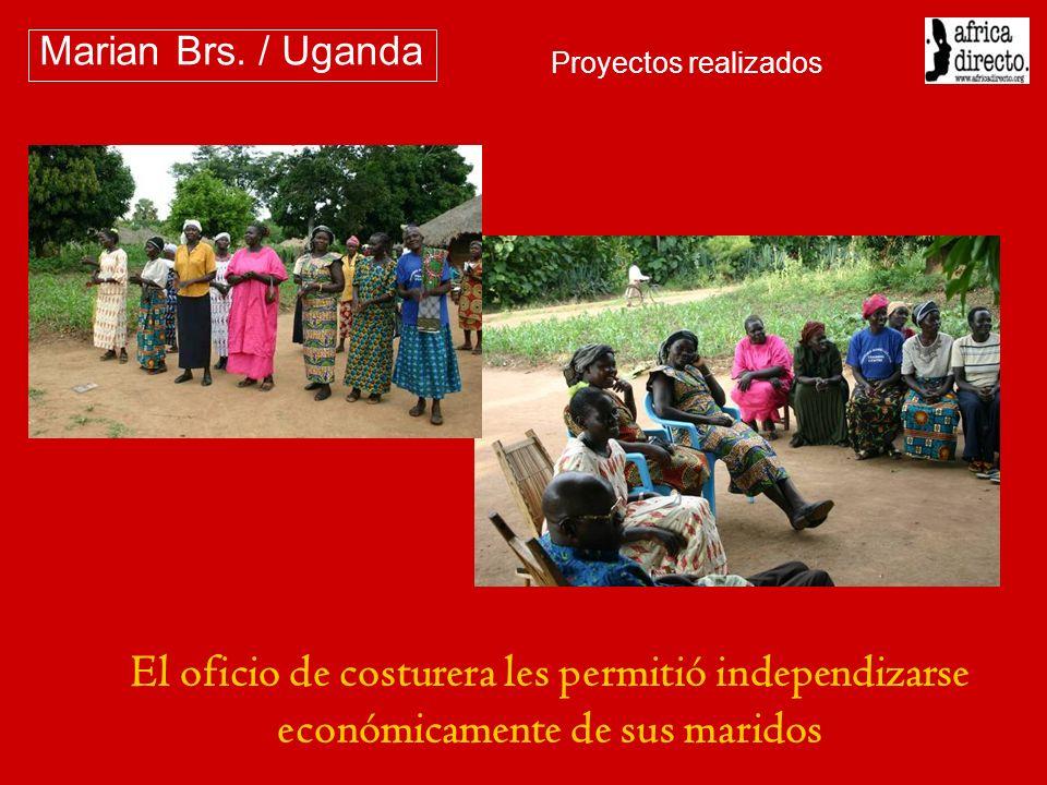 El oficio de costurera les permitió independizarse económicamente de sus maridos Marian Brs. / Uganda Proyectos realizados