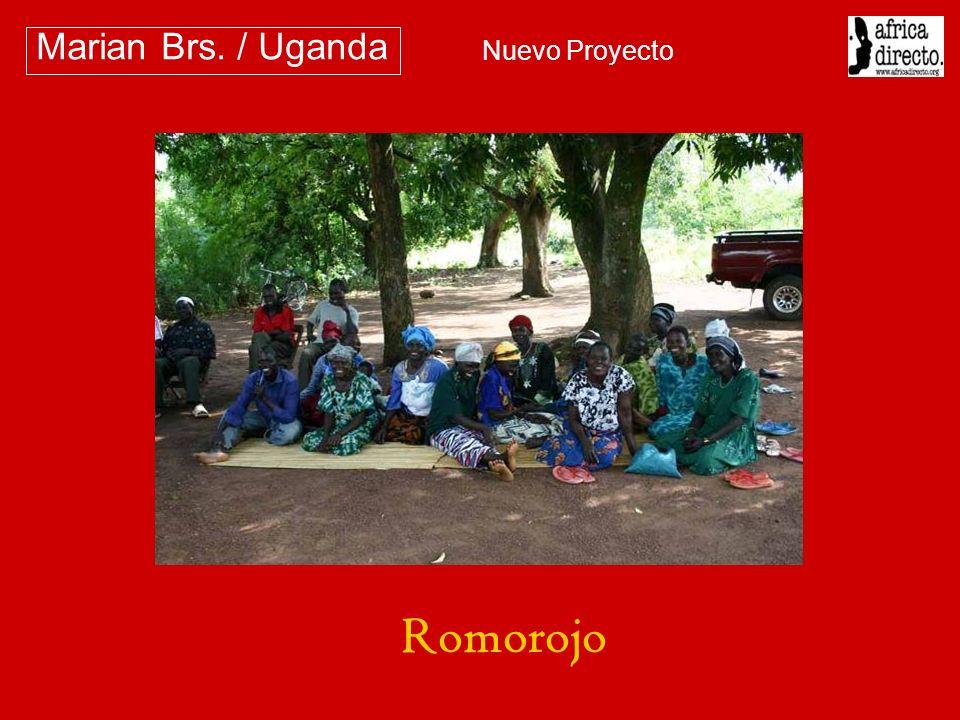 A esta comunidad también habían sido facilitadas las semillas y la formación Marian Brs.
