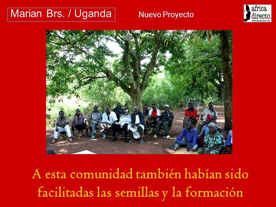 A esta comunidad también habían sido facilitadas las semillas y la formación Marian Brs. / Uganda Nuevo Proyecto