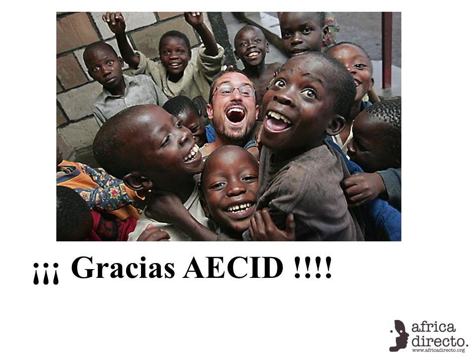 ¡¡¡ Gracias AECID !!!!