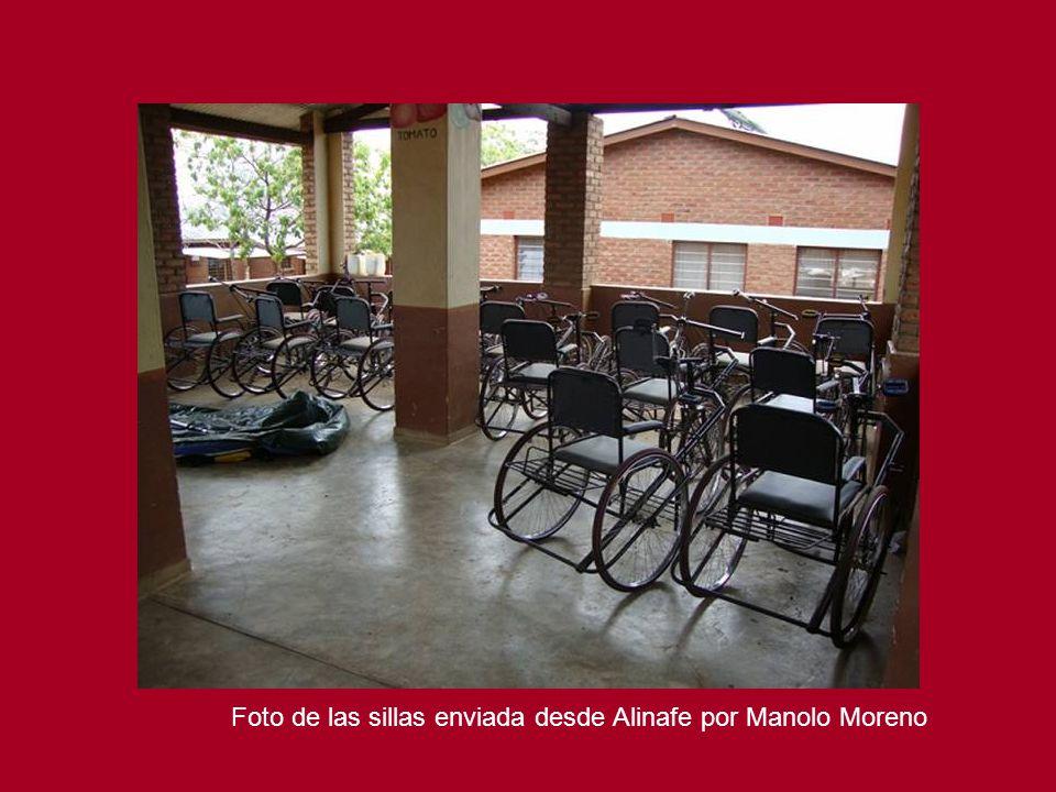 Foto de las sillas enviada desde Alinafe por Manolo Moreno