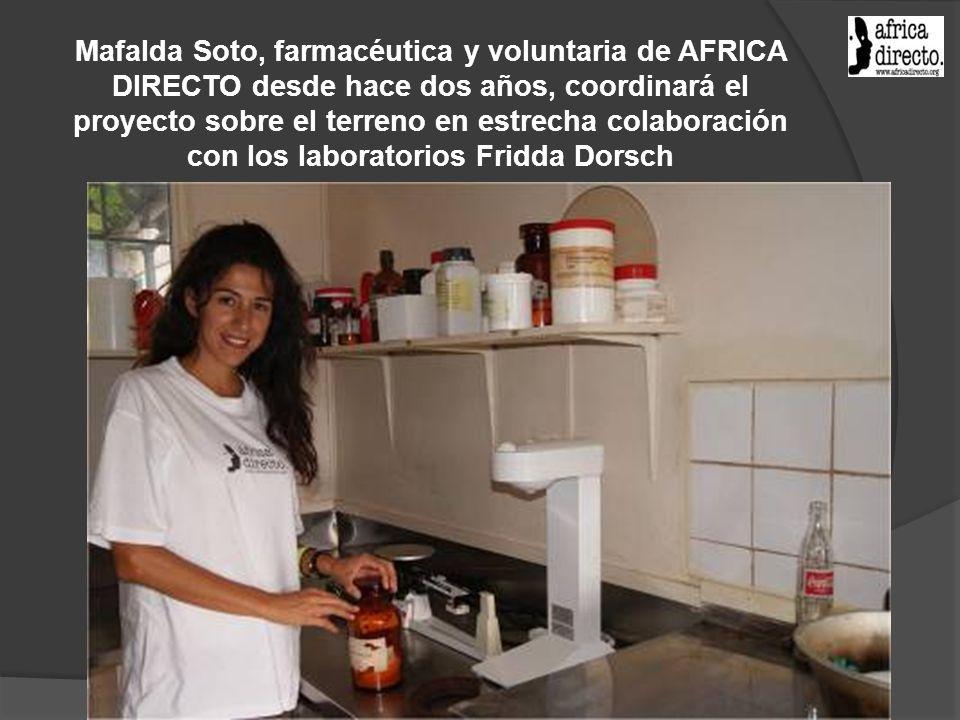 Mafalda Soto, farmacéutica y voluntaria de AFRICA DIRECTO desde hace dos años, coordinará el proyecto sobre el terreno en estrecha colaboración con lo