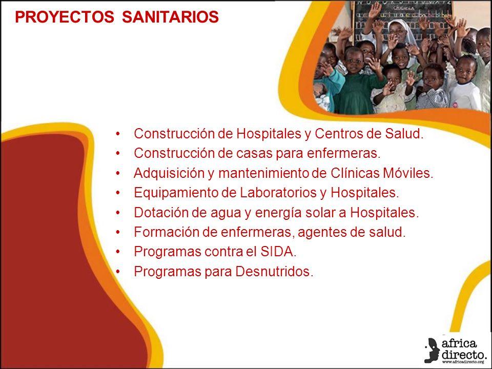 Construcción de Hospitales y Centros de Salud. Construcción de casas para enfermeras.