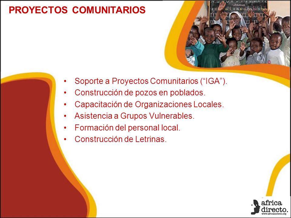 Soporte a Proyectos Comunitarios (IGA). Construcción de pozos en poblados.