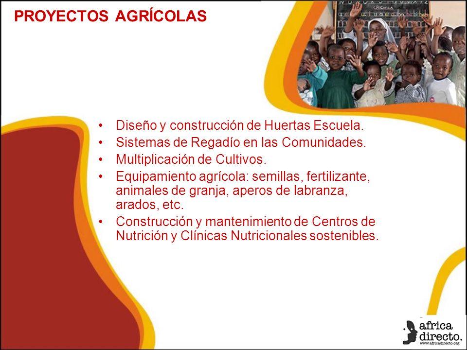 Diseño y construcción de Huertas Escuela. Sistemas de Regadío en las Comunidades.