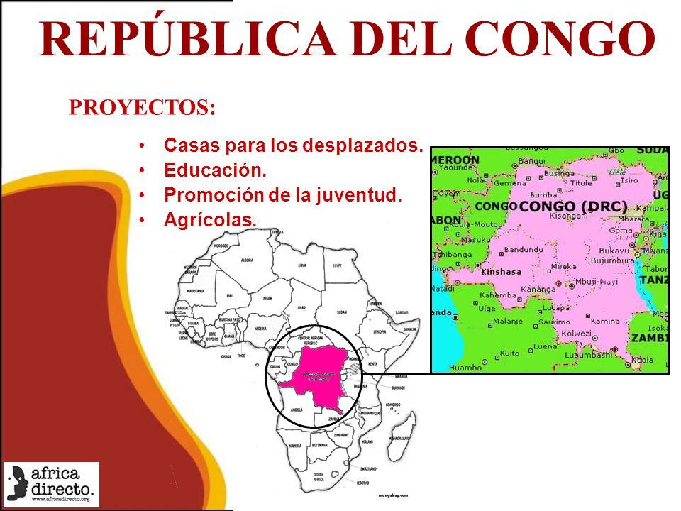 REPÚBLICA DEL CONGO Casas para los desplazados. Educación.
