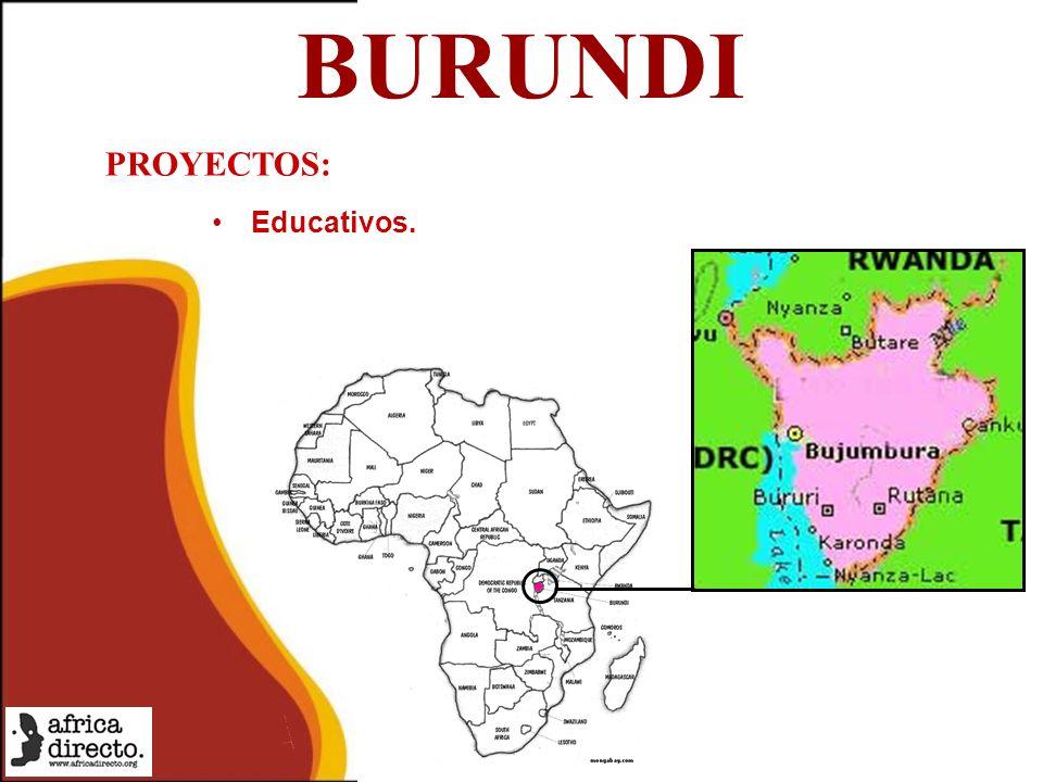 BURUNDI Educativos. PROYECTOS: