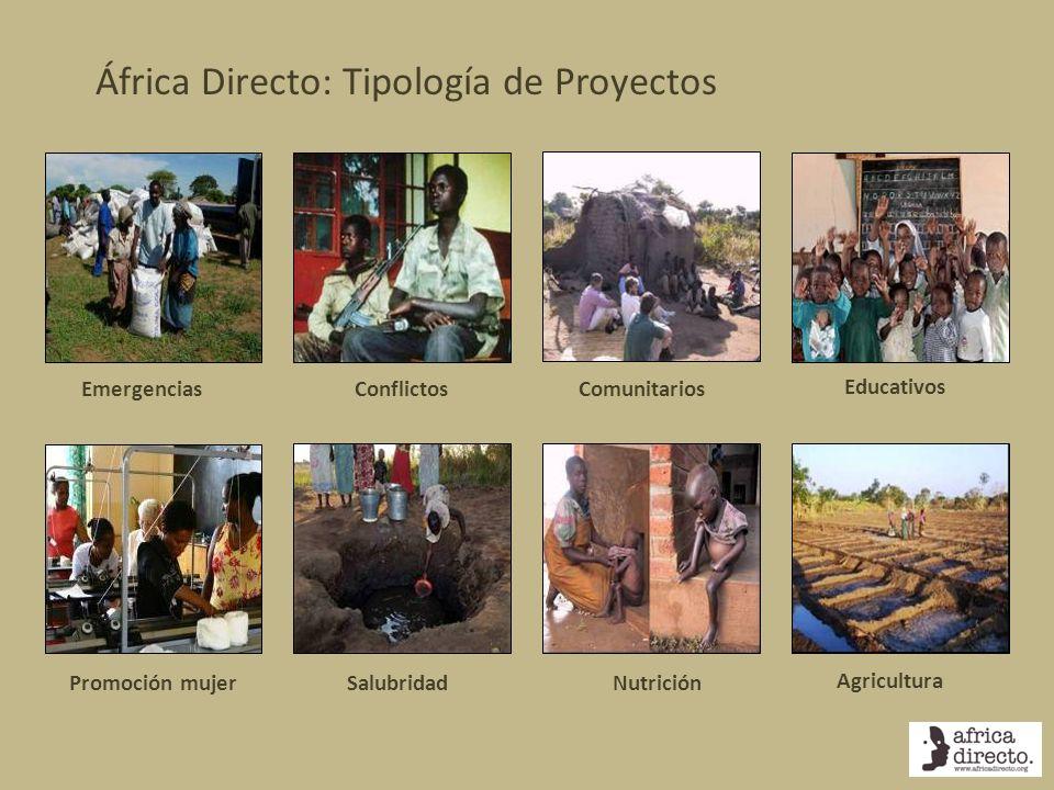 África Directo: Tipología de Proyectos Educativos ComunitariosConflictosEmergencias Agricultura NutriciónSalubridadPromoción mujer