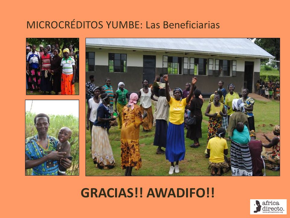 MICROCRÉDITOS YUMBE: Las Beneficiarias GRACIAS!! AWADIFO!!