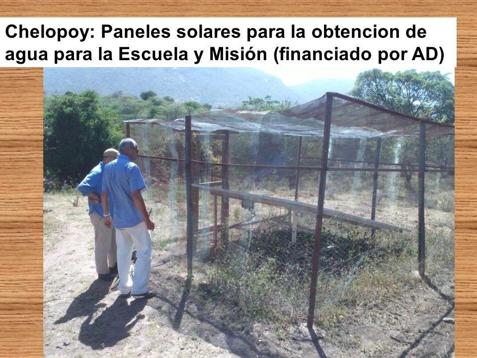 Chelopoy: Nuevo pozo para el que solicitan ayuda a AD (para obtencion de agua adicional con paneles solares y conducciones)