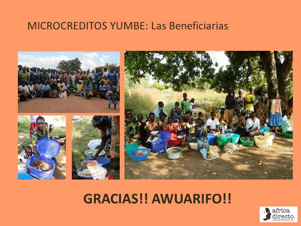 MICROCREDITOS YUMBE: Las Beneficiarias GRACIAS!! AWUARIFO!!