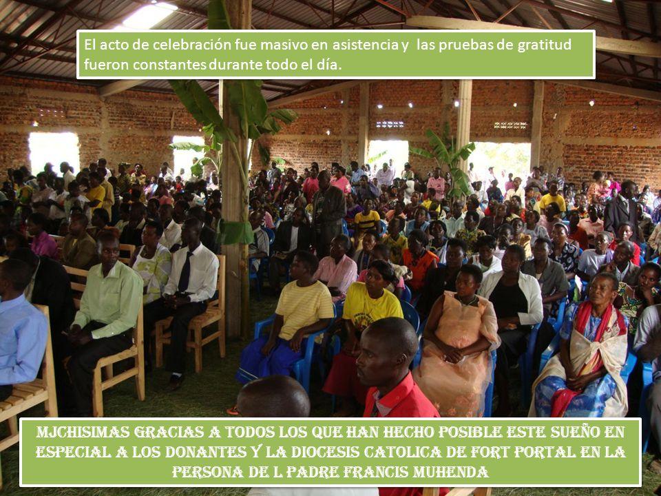 El acto de celebración fue masivo en asistencia y las pruebas de gratitud fueron constantes durante todo el día.