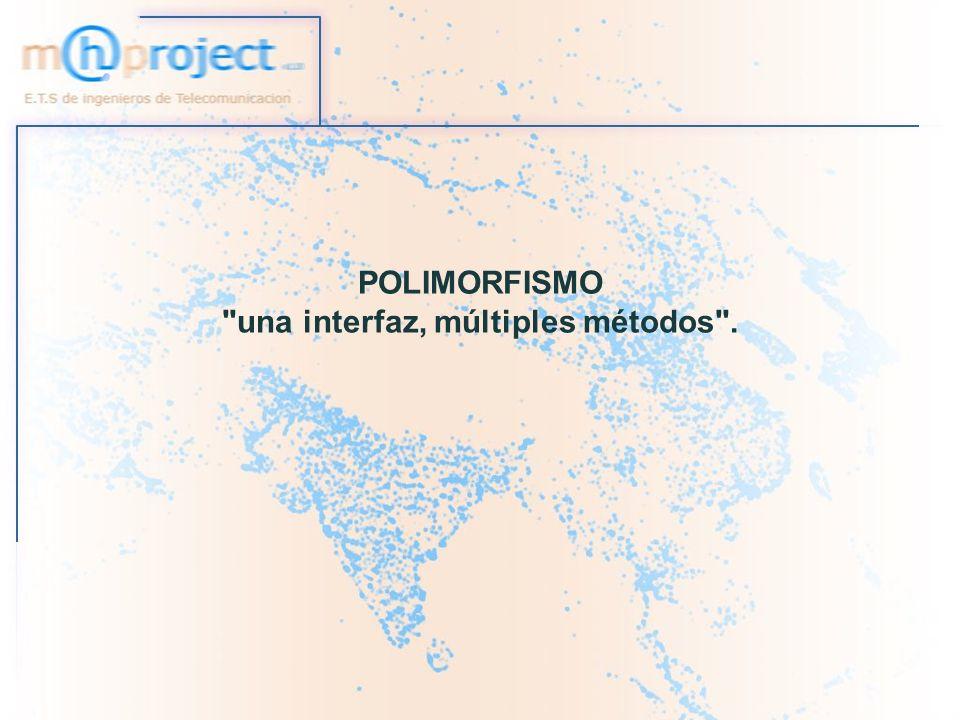 22/11/2005 E.T.S de Ingenieros de Telecomunicación - UPNA.22 POLIMORFISMO Subclase,Clase abstracta e Interface Subclase: Necesitemos hacer una especialización de la superclase mediante sobreescritura o añadiendo nuevos métodos.