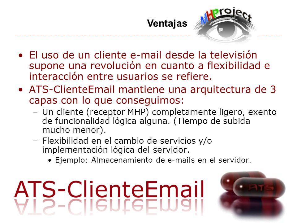 El uso de un cliente e-mail desde la televisión supone una revolución en cuanto a flexibilidad e interacción entre usuarios se refiere.
