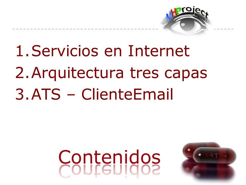 1.Servicios en Internet 2.Arquitectura tres capas 3.ATS – ClienteEmail